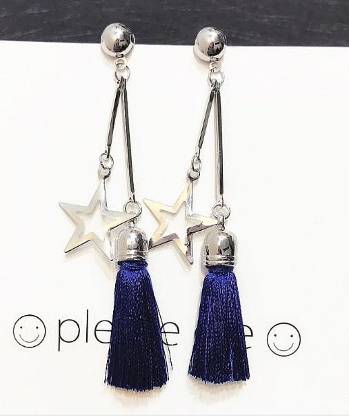 Sweet Stars Ear Drop Tassel Earrings Gift For Women
