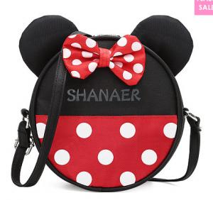Polka Dot Bowknot Ear Ornament Circular Shoulder Bags