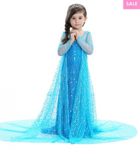 Sequins Tulle Floor Length Princess Dress