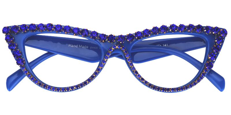 Cathleen Blue Cat Eye Glasses VFP0179-02